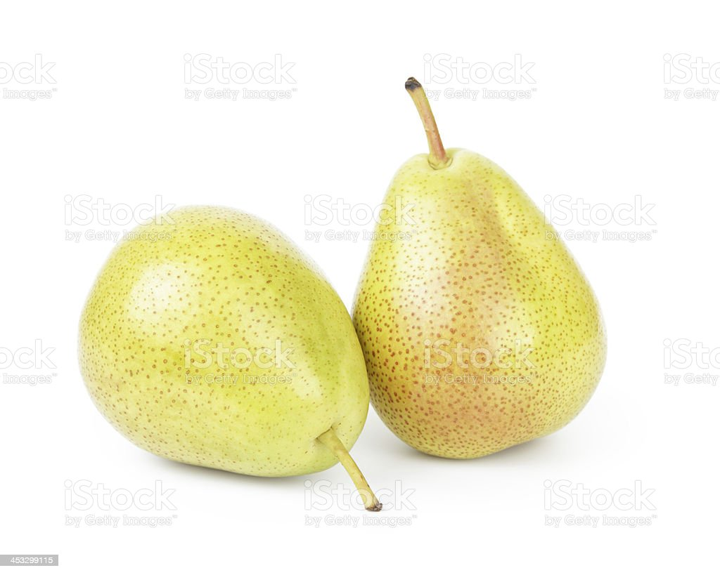 two williams pears stock photo