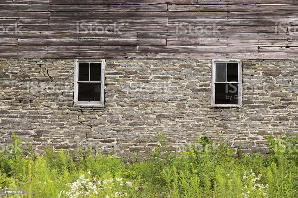 Two Window Old Barn royalty-free stock photo