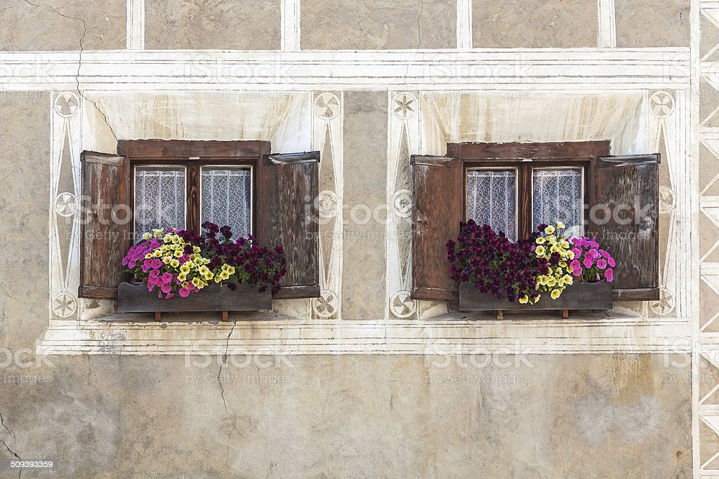 Two windows royalty-free stock photo