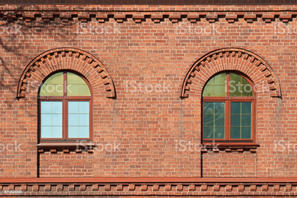 Two windows. stock photo