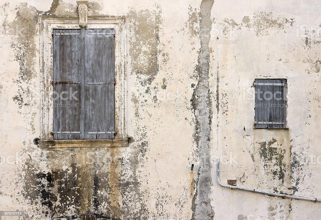 Two windows royalty-free stock photo