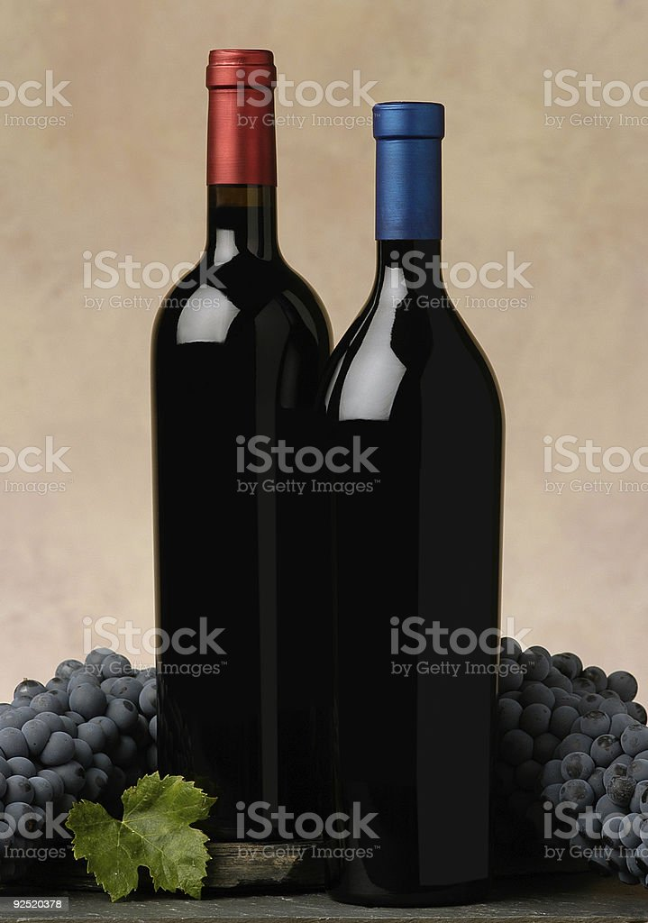 two wine bottles royalty-free stock photo