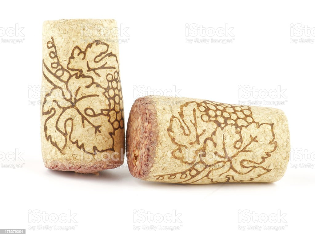 Two Wine corks royalty-free stock photo