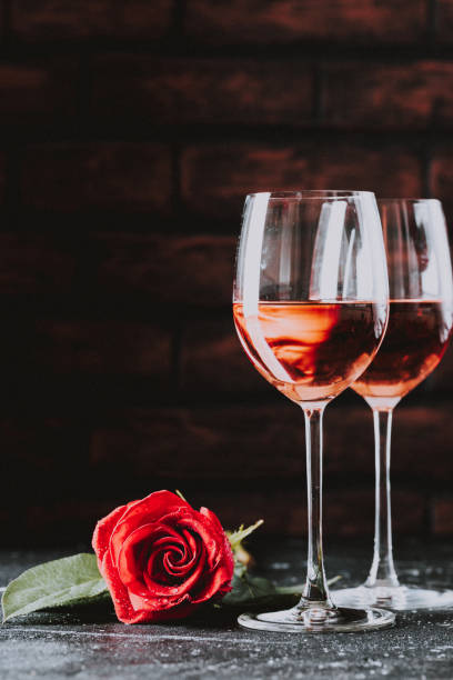 Two wine glasses of rose wine for marriage valentines day love on picture id1125389540?b=1&k=6&m=1125389540&s=612x612&w=0&h=fgbf1t61sihs9oj1ms4yvrijkeey niagwlrqlyugp4=