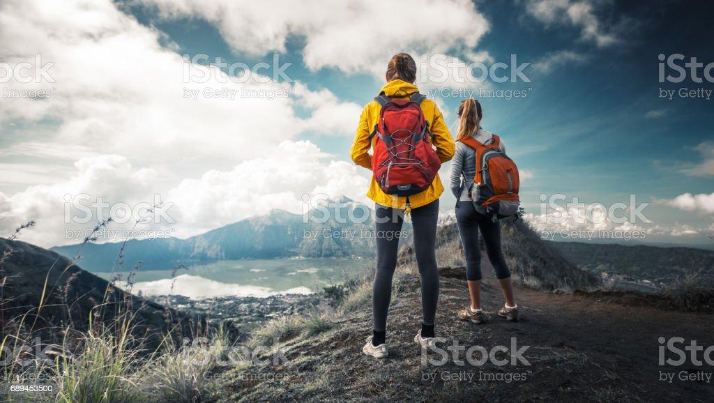 Zwei Frauen Wanderer – Foto