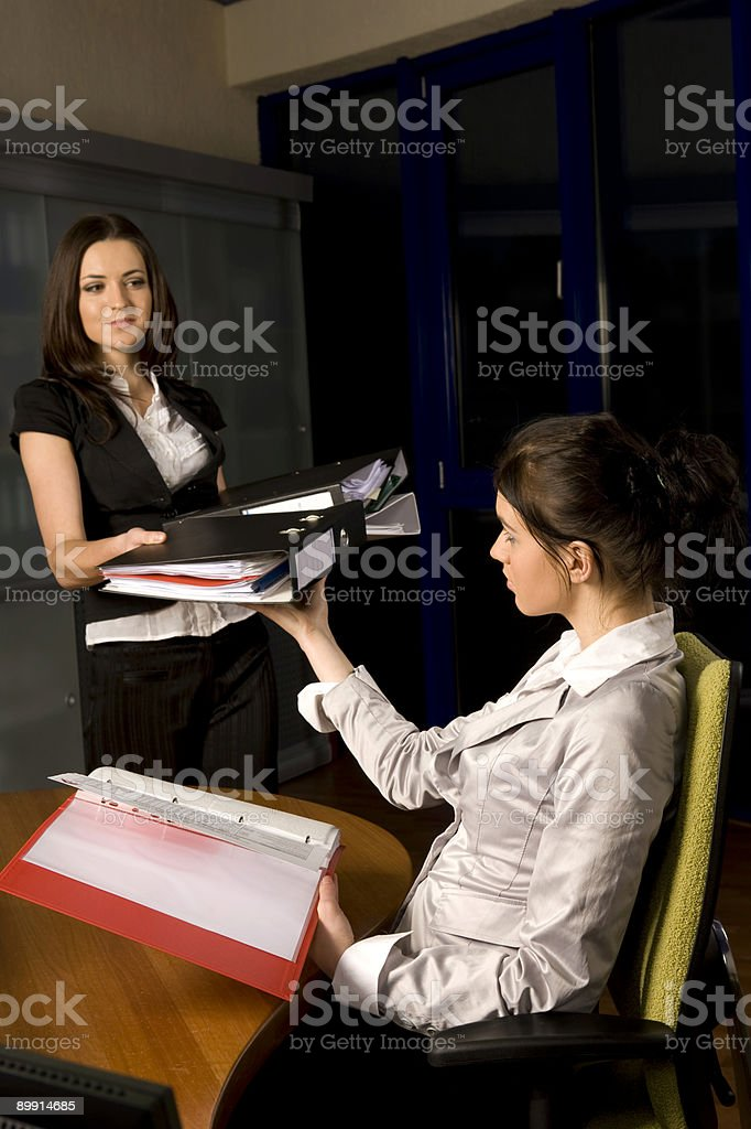 Two woman working royalty-free stock photo