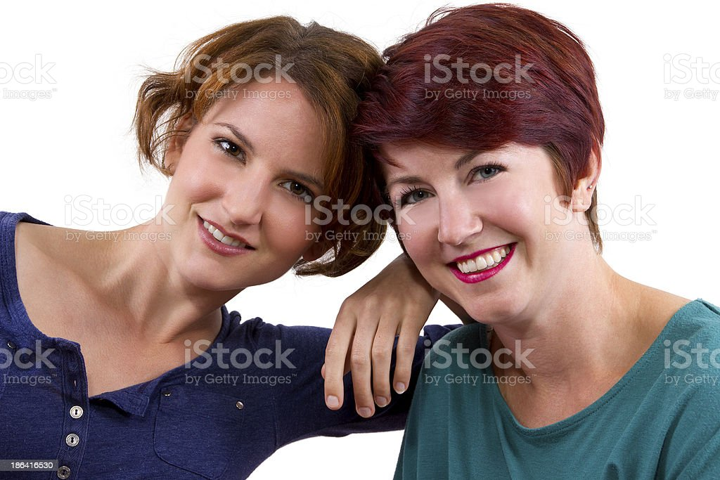 Two Women are Best Friends Forever or BFF royalty-free stock photo