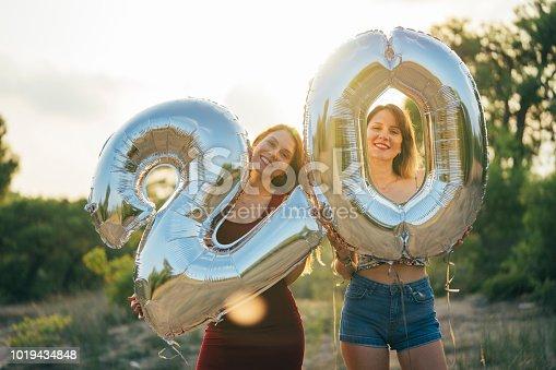 Two Women Friends Celebrates a Twenty Years Birthday