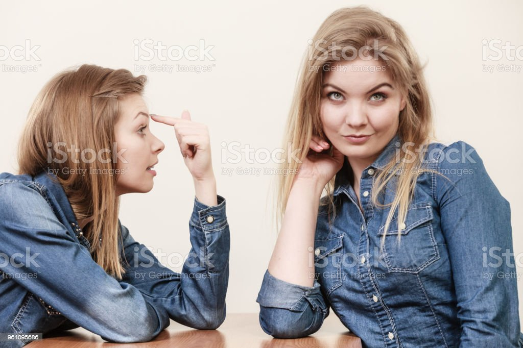 Two women having argue - Royalty-free Adult Stock Photo