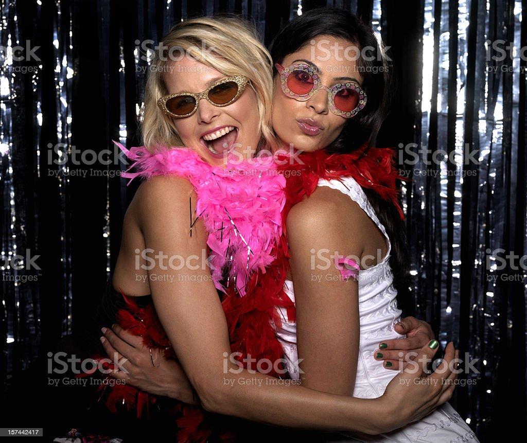 Two Women stock photo