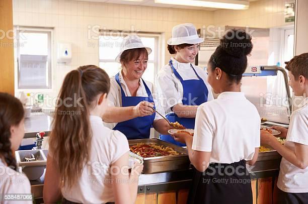 Two women serving kids food in a school cafeteria picture id538487066?b=1&k=6&m=538487066&s=612x612&h=09 jvkvy hkohhcduxaqj lzz62c2bazvjul0qo1h5q=