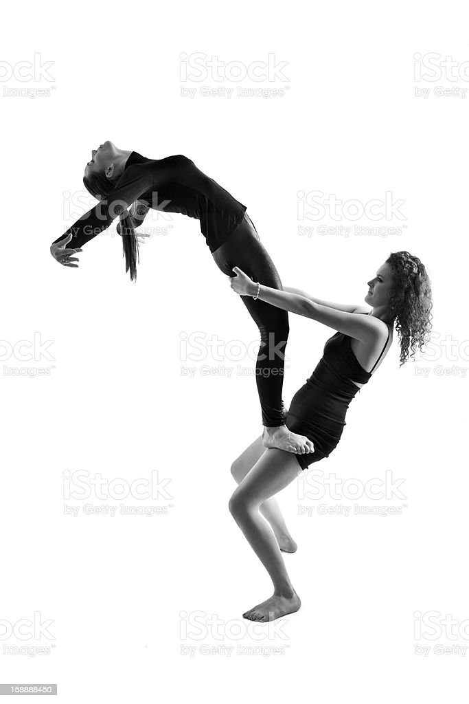 Two Women Showing Dance Pose Royalty Free Stock Photo