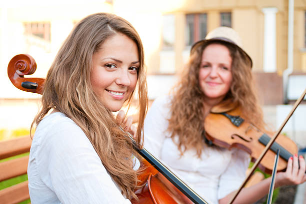 Violin And Cello Duet Stock Photos, Pictures & Royalty-Free