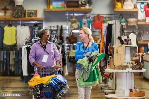 1166905017 istock photo Two women working in clothing store 1140890997