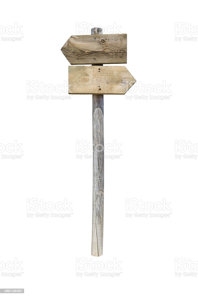 Two Wooden Arrow Sign stock photo