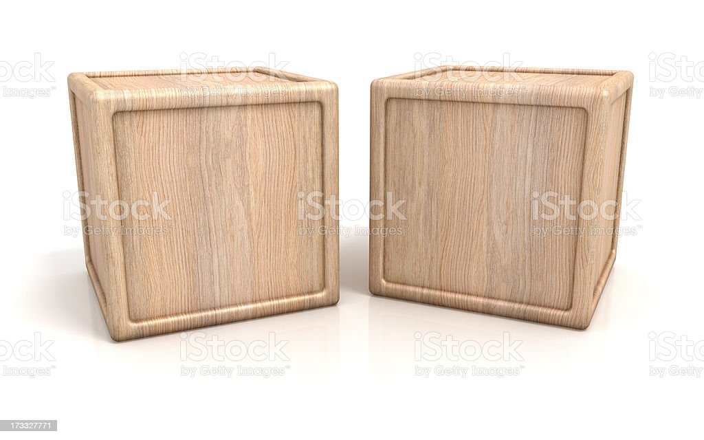 Two wooden blocks with copy space royalty-free stock photo