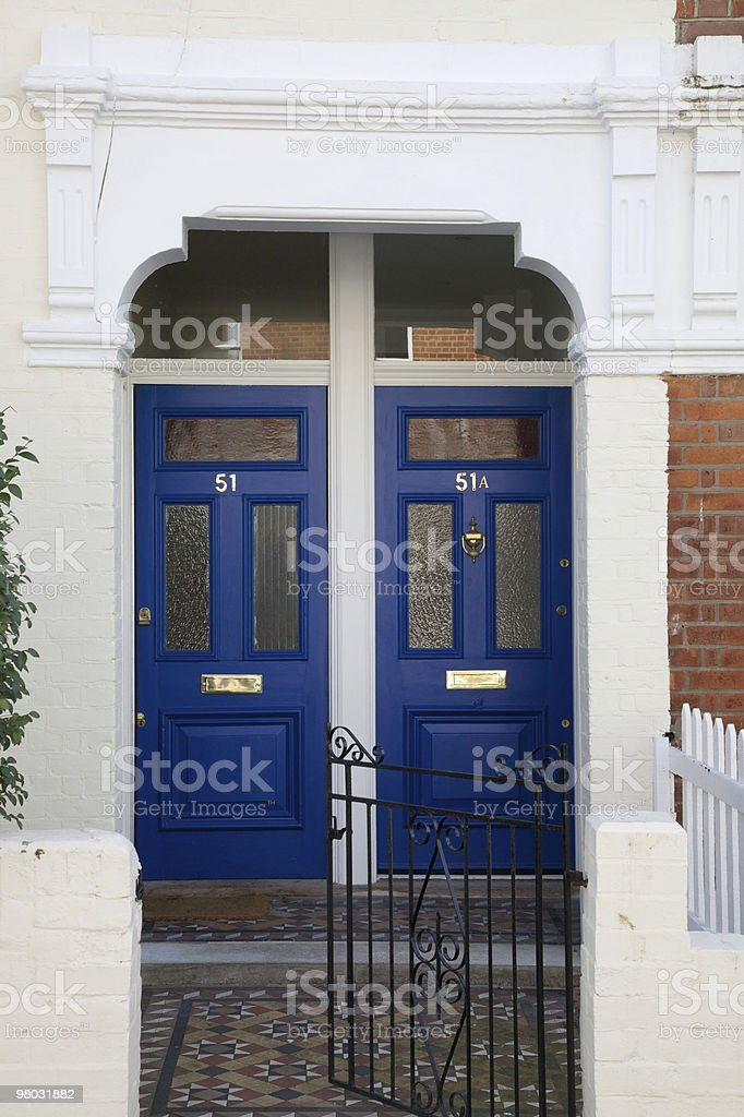 Two Wooden Doors royalty-free stock photo