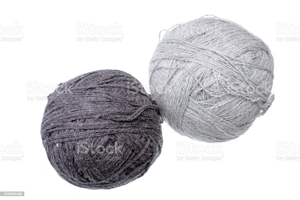 Two woolen balls stock photo