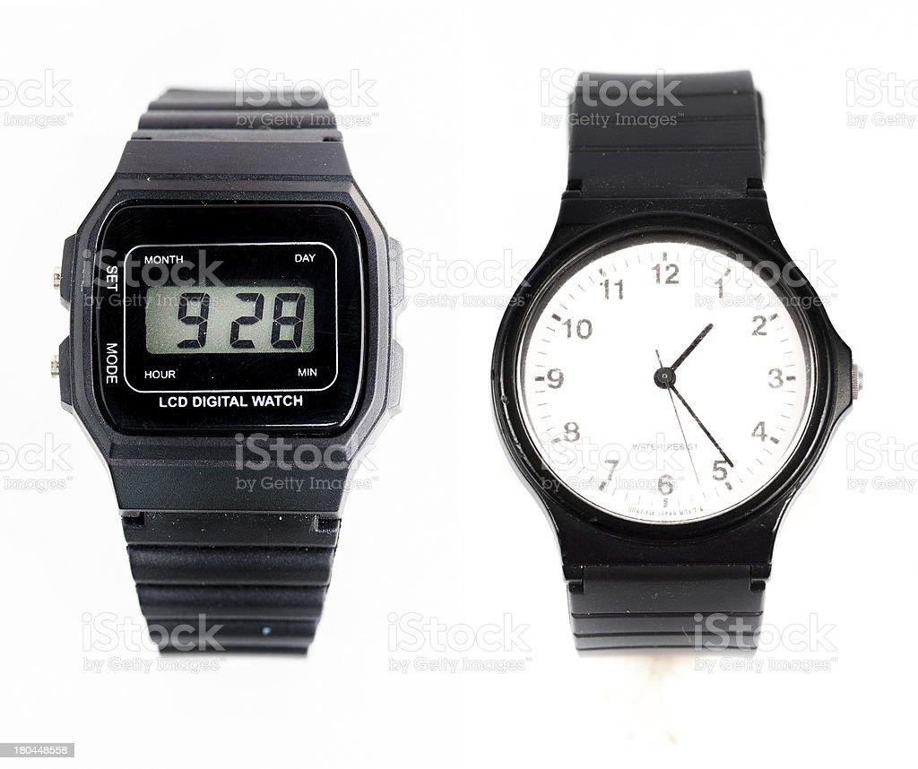 Two wristwatch royalty-free stock photo