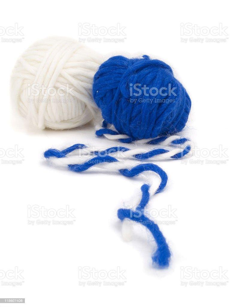 Two yarn balls royalty-free stock photo