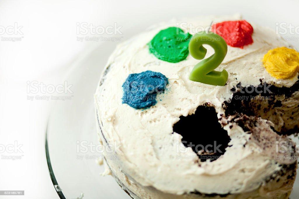 Amazing Two Year Old Birthday Cake Stock Photo Download Image Now Istock Funny Birthday Cards Online Inifodamsfinfo