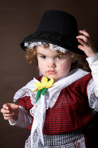 f50494c3d Two Year Old Girl In Traditional Welsh Costume Stock Photo & More Pictures  of 2-3 Years - iStock