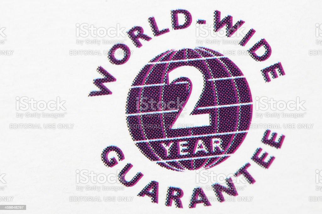 Two Year Worldwide Guarantee Logo On Philips Phone White Box