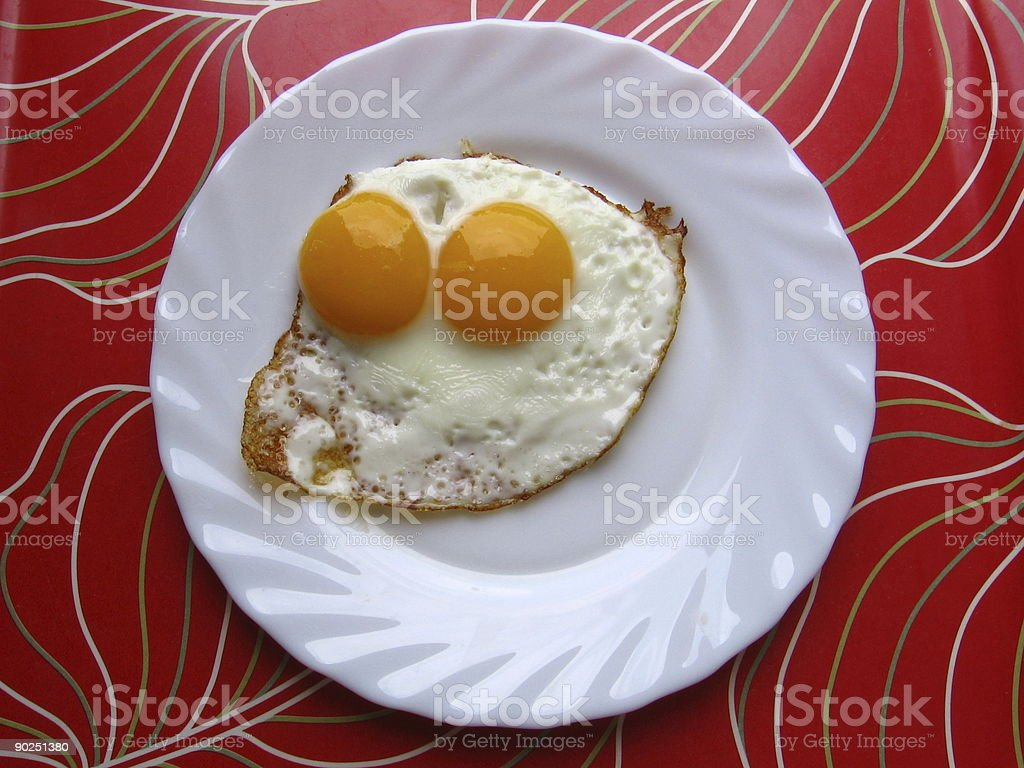 Two yolks egg royalty-free stock photo