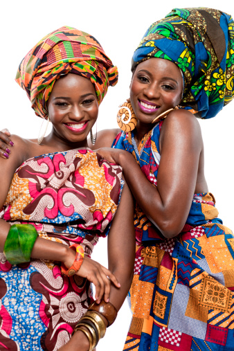 istock Two young African fashion models. 178098662