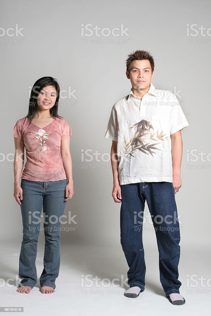 Two young asian couple royalty-free stock photo