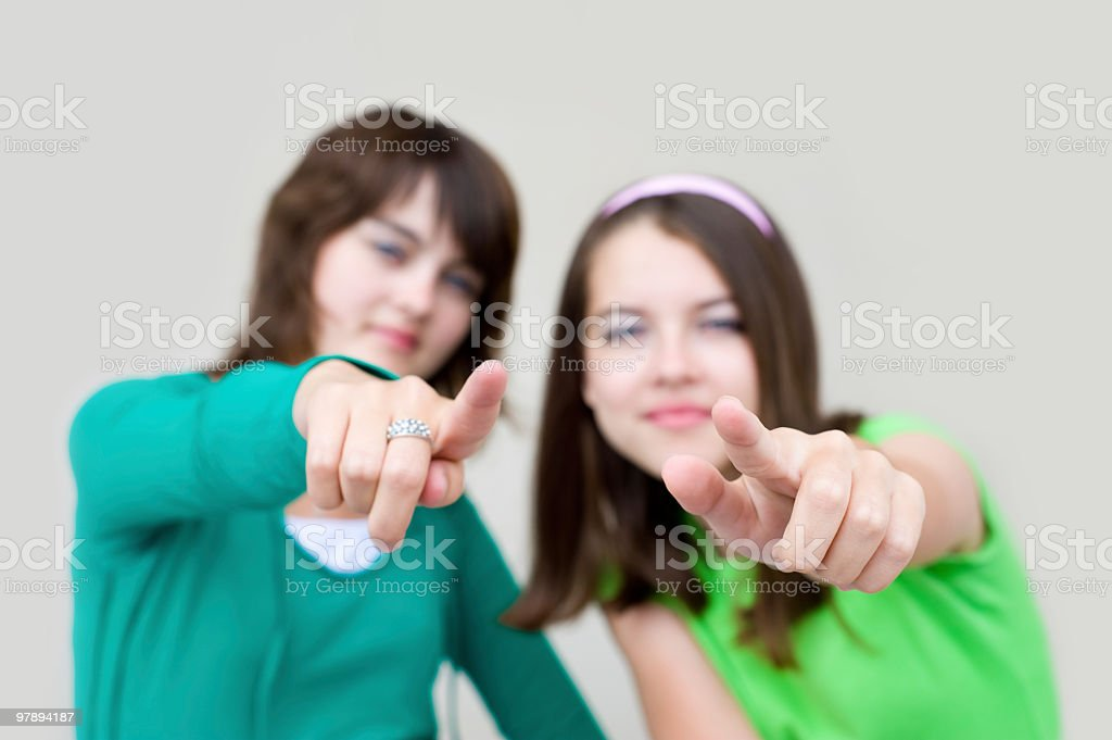 two young females royalty-free stock photo