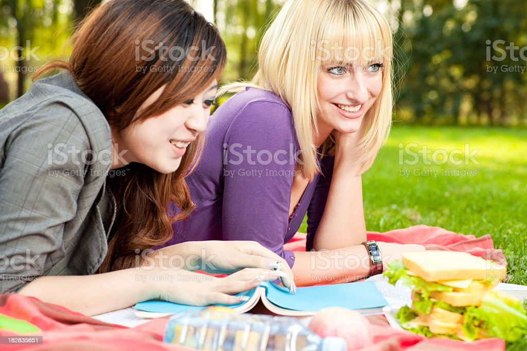 Two Young Friends royalty-free stock photo
