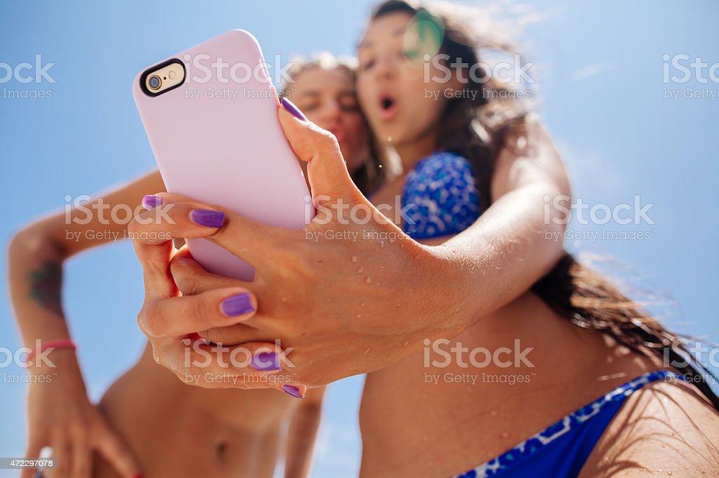 selfie smartphone-Mädchen – Foto