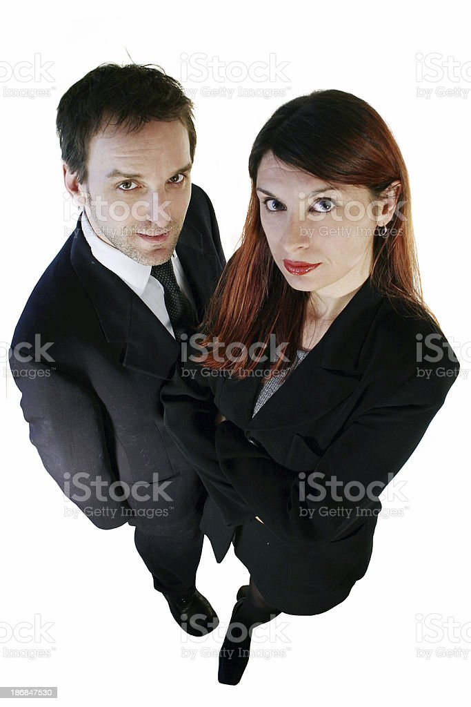 Two young professionals royalty-free stock photo