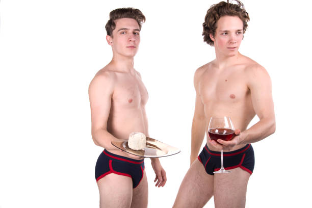 Naked Male Waiters Stock Photos, Pictures & Royalty-Free