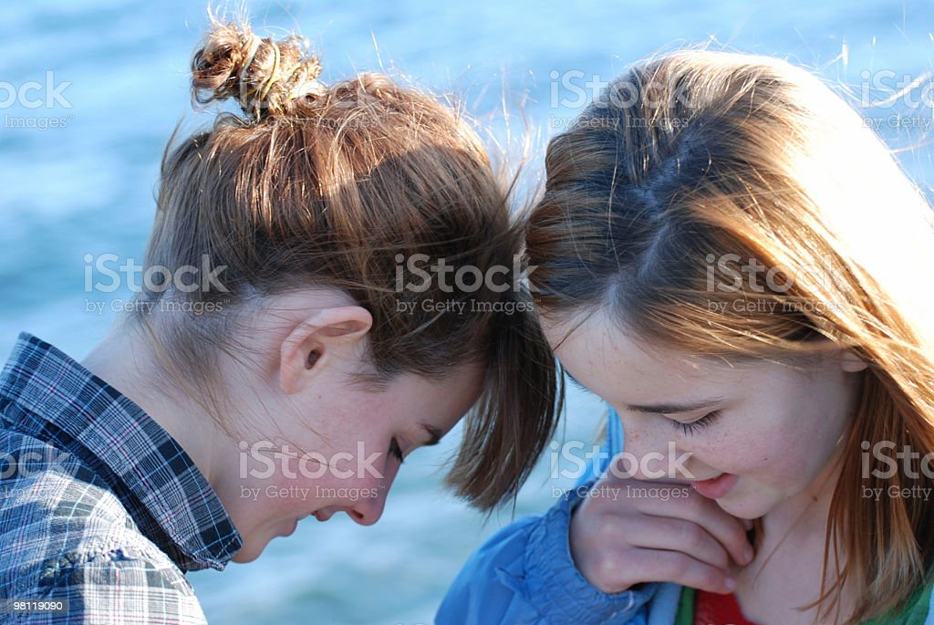 Two Young Teen Girls royalty-free stock photo