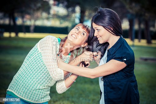 969532194 istock photo Two Young Women Fighting 494180795