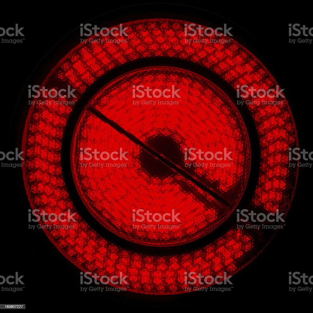 Two Zone Glowing Glass Ceramic Hob royalty-free stock photo