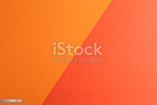 two tone color paper background, top view photo