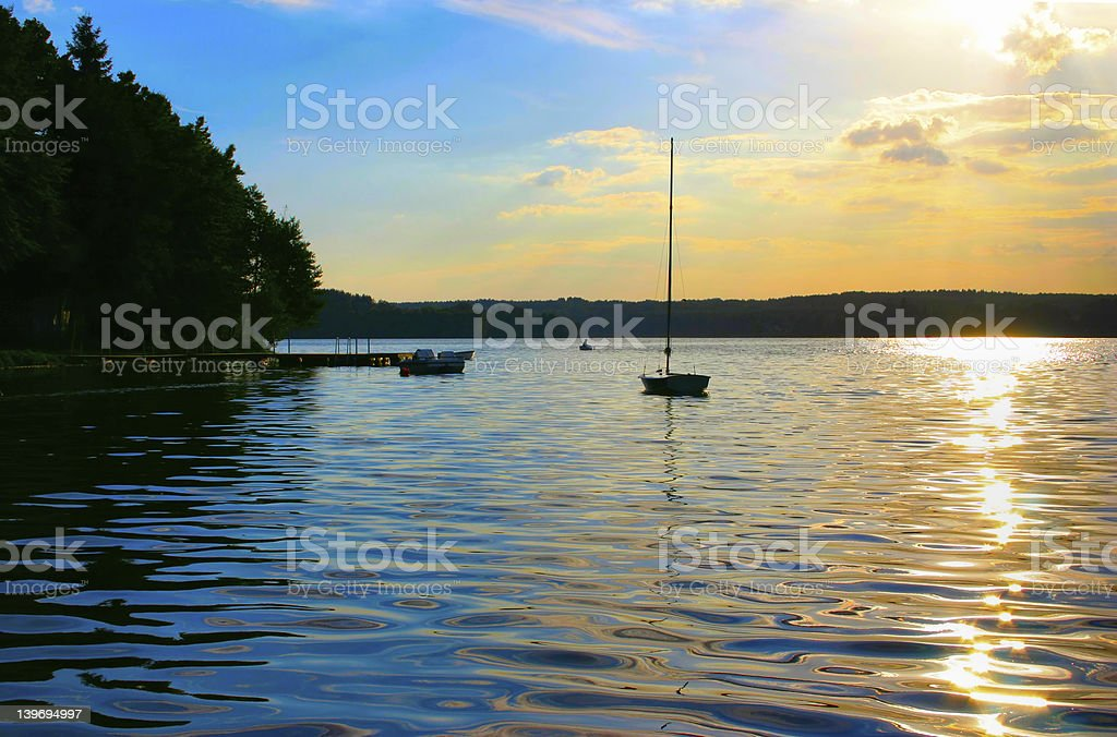 two-coloured sunset royalty-free stock photo
