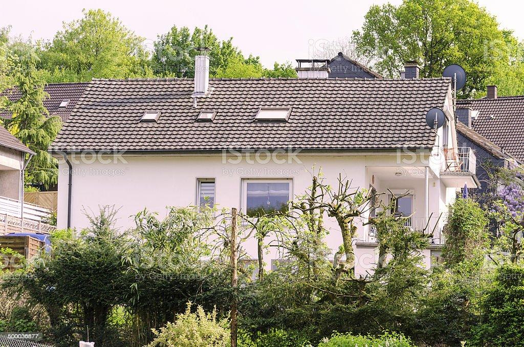Zweifamilienhaus Ansicht stock photo