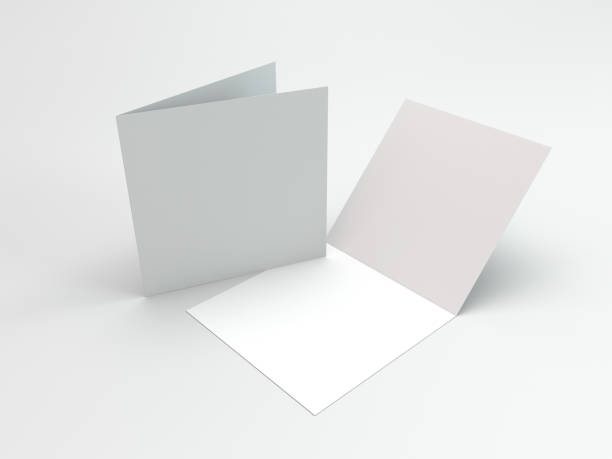 Two-Leaf Brochures Or Greeting Cards stock photo