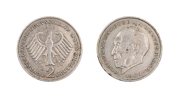 Two-Mark-Coin, Germany, 1975 stock photo