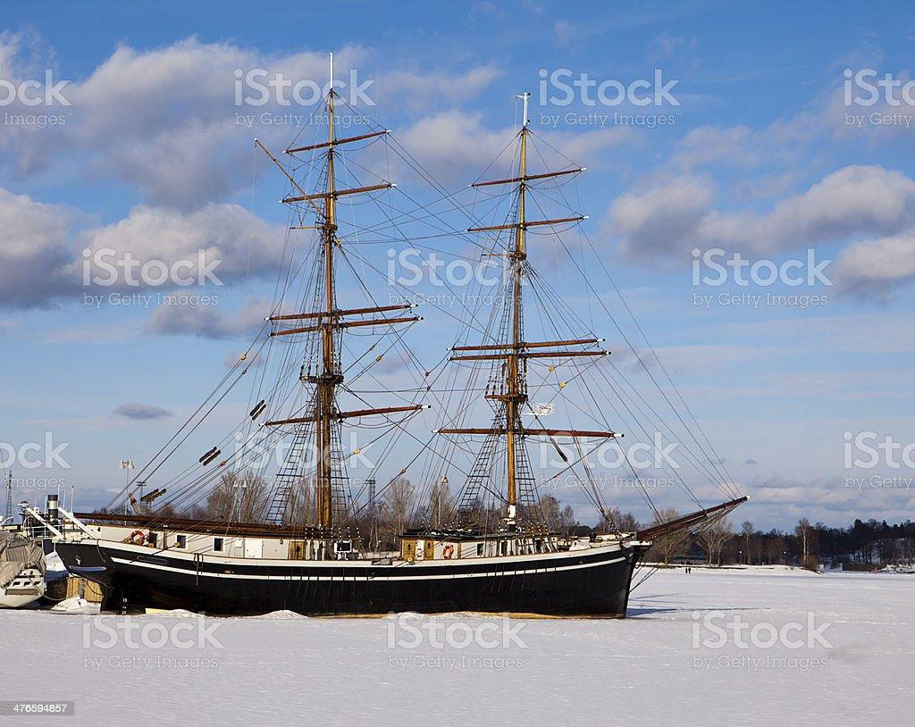Two-Masted Sailing Ship royalty-free stock photo