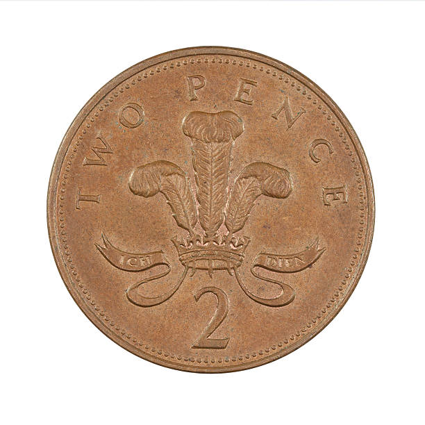 Two-Pence-Coin, UK, 1996 stock photo