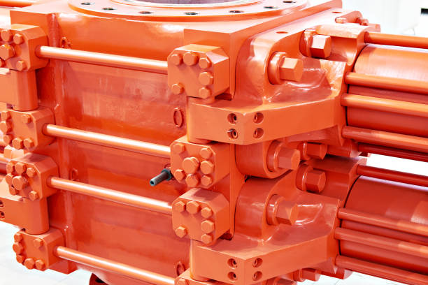 Two-piece blowout preventer stock photo