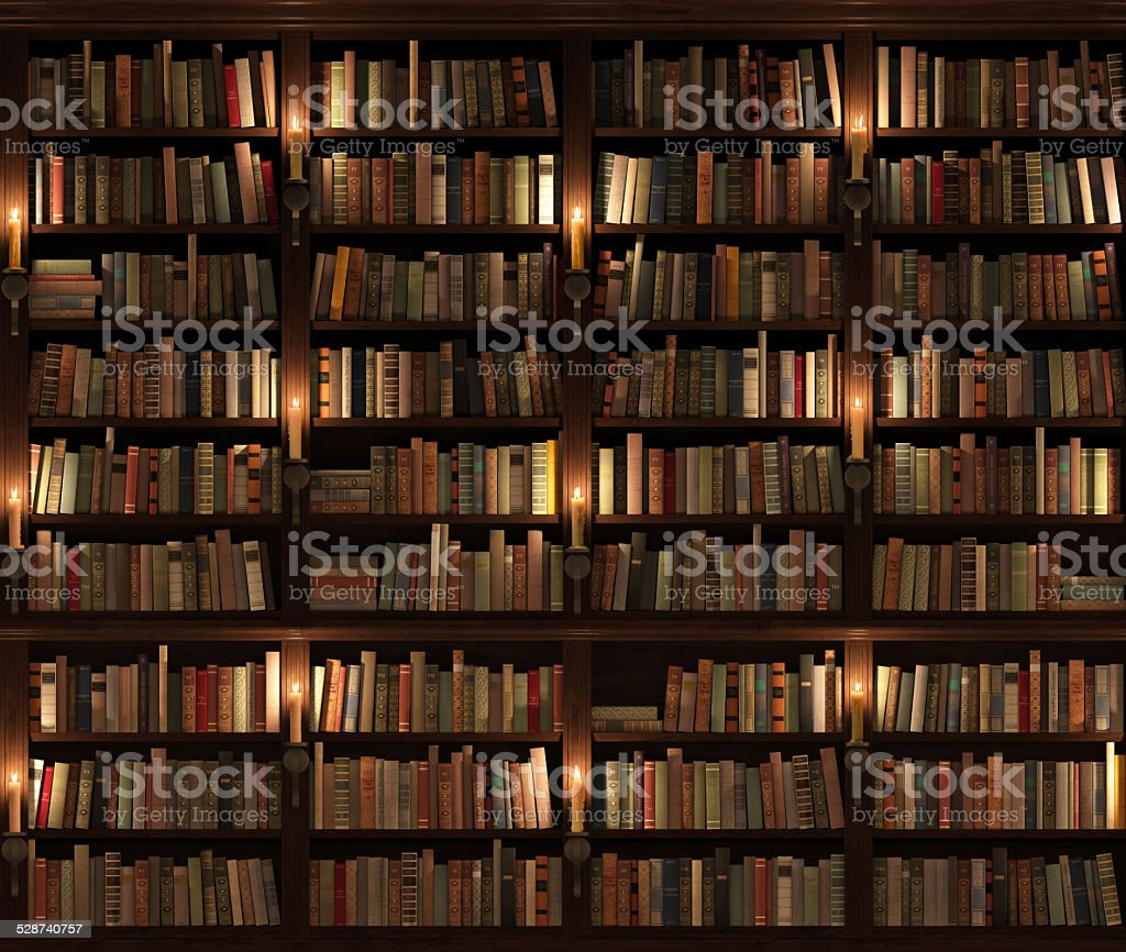 Two Storied Bookshelf Seamless Texture Vertically And Horizontally Royalty Free