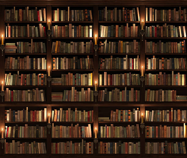 Two-storied Bookshelf. Seamless texture (vertically and horizontally). stock photo
