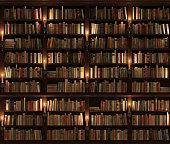 Two-storied Bookshelf. Seamless texture (vertically and horizontally).