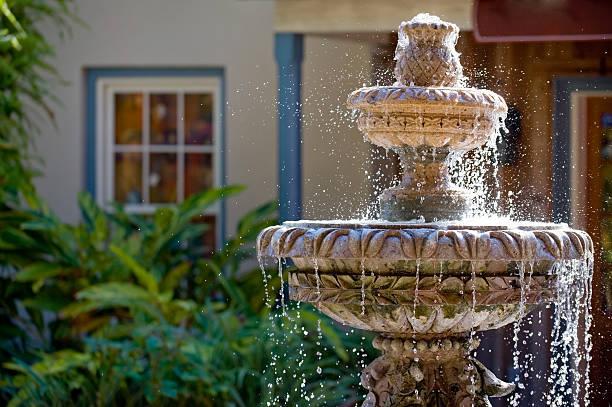 fontaine dans le jardin - fontaine photos et images de collection